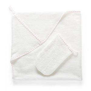 Stokke - 253701 - Cape de bain et Gant de toilette inclus Silhouette Rose (333230)
