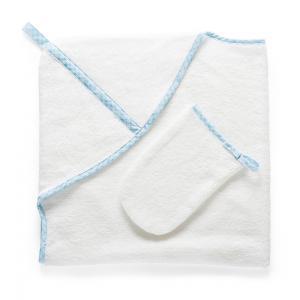Stokke - 253704 - Cape de bain et gant de toilette Blue Checks (333236)