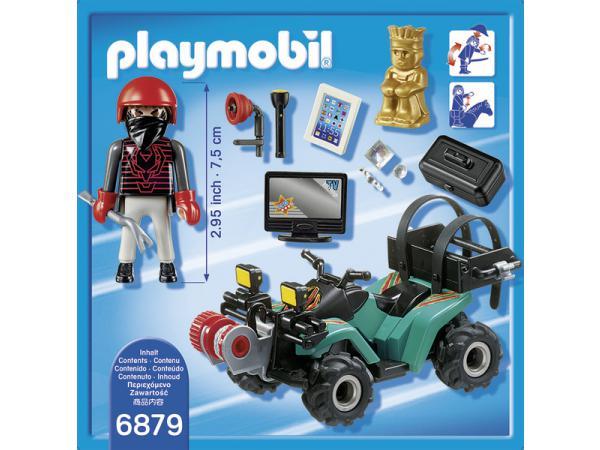 playmobil quad avec treuil et bandit. Black Bedroom Furniture Sets. Home Design Ideas