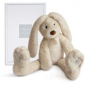 Histoire d'ours - HO2736 - Fluffy - lapin longues jambes ecru - taille 38 cm - boîte cadeau (334256)