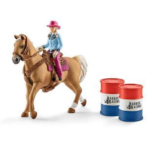 Schleich - 41417 - Barrel racing avec une cowgirl (334668)