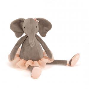 Jellycat - DD6E - Peluche éléphant danseuse étoile Dancing Darcey Elephant (336306)
