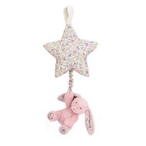 Jellycat - BAMS4BTP - Peluche musicale Blossom étoile avec lapin rose - L = 7 cm x l = 19 cm x H =28 cm (337038)