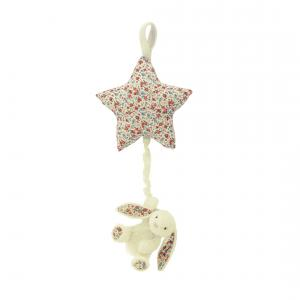Jellycat - BAMS4CBB - Blossom Cream Bunny Star Musical Pull (337042)