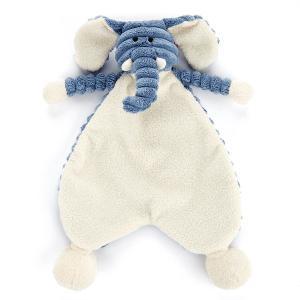 Jellycat - SRS4EL - Doudou plat éléphant Cordy Roy Baby Soother - l = 19 cm x H =23 cm (337268)