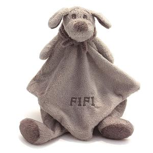 Dimpel - 812214 - Fifi doudou beigegris, chien doudou (337426)