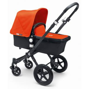 Bugaboo - BU023 - Poussette Cameleon³ châssis NOIR base NOIR habillage orange (338906)