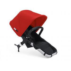 Bugaboo - 600112RD02 - Poussette Runner+ siège NOIR avec capote ROUGE (339016)