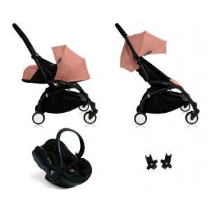 Babyzen - BU064 - Nouvelle poussette Babyzen Yoyo plus complète cadre noir habillages 0+ et 6+ ginger et siège auto Babyzen Besafe noir (339458)