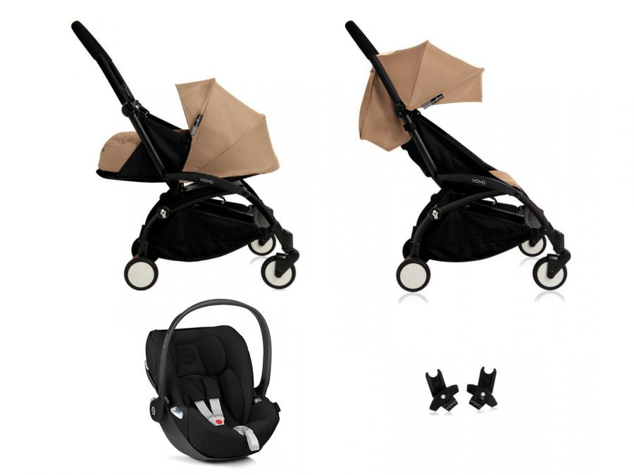 nouvelle poussette babyzen yoyo plus compl te cadre noir habillages 0 et 6 taupe et si ge auto. Black Bedroom Furniture Sets. Home Design Ideas