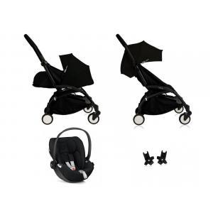 Babyzen - BU061 - Nouvelle poussette Babyzen Yoyo plus complète cadre noir habillages 0+ et 6+ noir et siège auto Babyzen Besafe noir (339462)