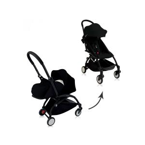 Babyzen - BU061 - Poussette Yoyo+ complète cadre  noir habillages 0+ et 6+ noir et siège auto CLOUD Z I-SIZE (339462)