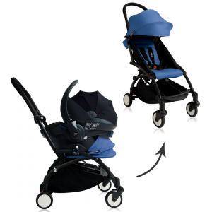 Babyzen - BU057 - Nouvelle poussette Babyzen Yoyo plus complète cadre noir habillages 0+ et 6+ bleu et siège auto Babyzen Besafe noir (339470)