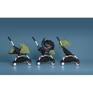 Babyzen - BU039 - Poussette Yoyo+ complète cadre  blanc habillages 0+ et 6+ peppermint et siège auto iZi Go Modular gris (339506)