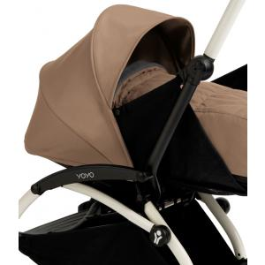 Babyzen - BU022 - Poussette Yoyo+ complète cadre  blanc habillages 0+ et 6+ taupe (339540)