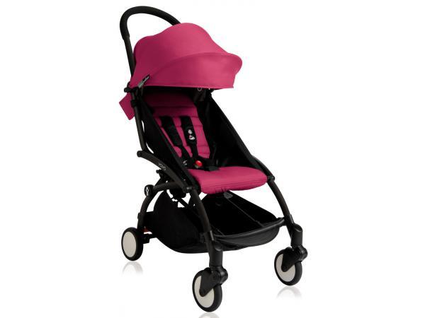Nouvelle poussette babyzen yoyo plus cadre noir pack couleur 6+ rose e4716b43e71