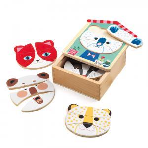 Djeco - DJ01679 - Puzzles bois -  Face-mix * (340414)