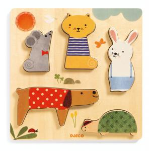 Djeco - DJ01051 - Puzzles relief -  Woodypets* (340422)