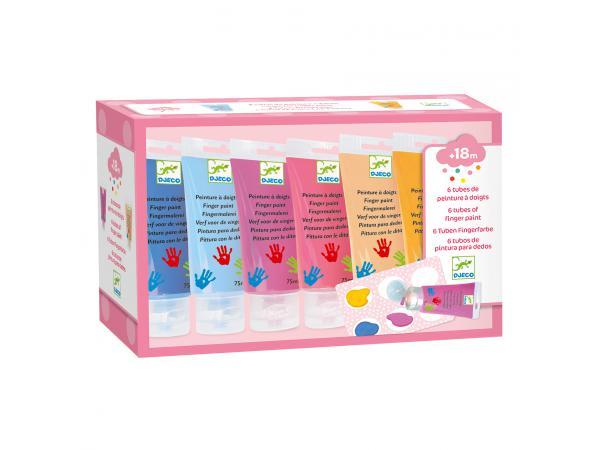 Les couleurs - pour les petits - 6 tubes de peinture à doigts sweet