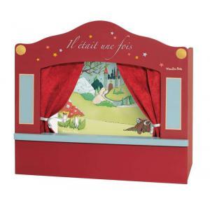 Moulin Roty - 711304 - Petit théâtre de marionnettes rouge Il était une fois (341142)