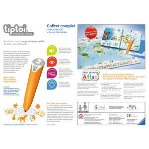 Ravensburger - 00782 - Jeux éducatifs Tiptoi - Coffret complet lecteur interactif + Livre Atlas (341238)