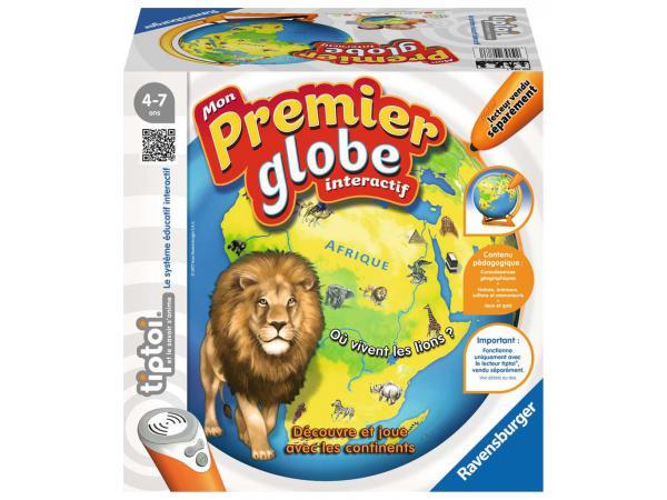 Jeux éducatifs tiptoi - mon premier globe interactif