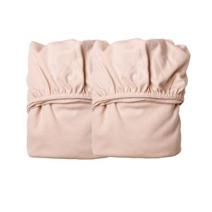 Leander - 780010-44 - Lot de 2 draps housse berceau Leander/Linea, Rose Pale (341796)