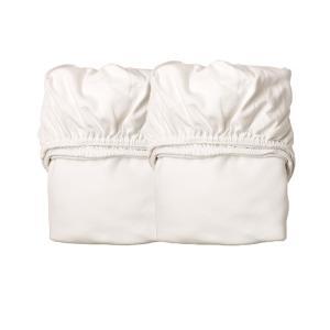 Leander - 501885 - Lot de 2 draps housse , Blanc pour berceau suspendu Leander (341800)