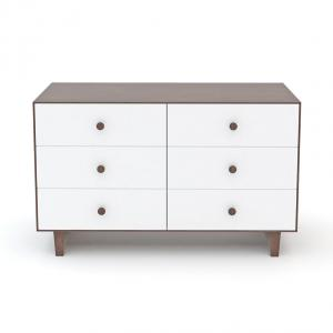 Oeuf NYC  - BU004 - Commode Merlin 6 tiroirs base RHEA noyer (341866)