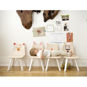Oeuf NYC  - 1PYCB01 - Lot de 2 chaises enfant Play dossier Ourson en bouleau naturel (341952)