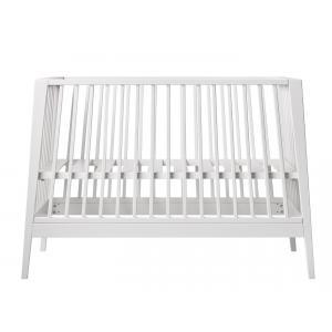 Leander - 700020-03 - Lit bébé Linea en Hêtre Blanc (sans matelas) (342152)