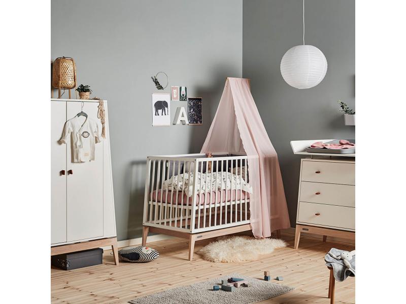 leander fl che de lit b b linea en ch ne naturelle. Black Bedroom Furniture Sets. Home Design Ideas