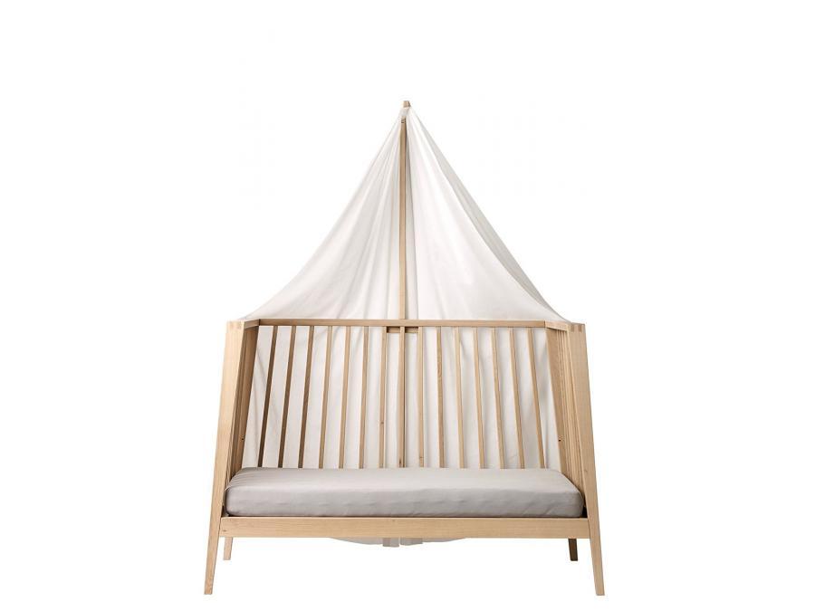 leander voile de lit blanc pour lit b b linea. Black Bedroom Furniture Sets. Home Design Ideas
