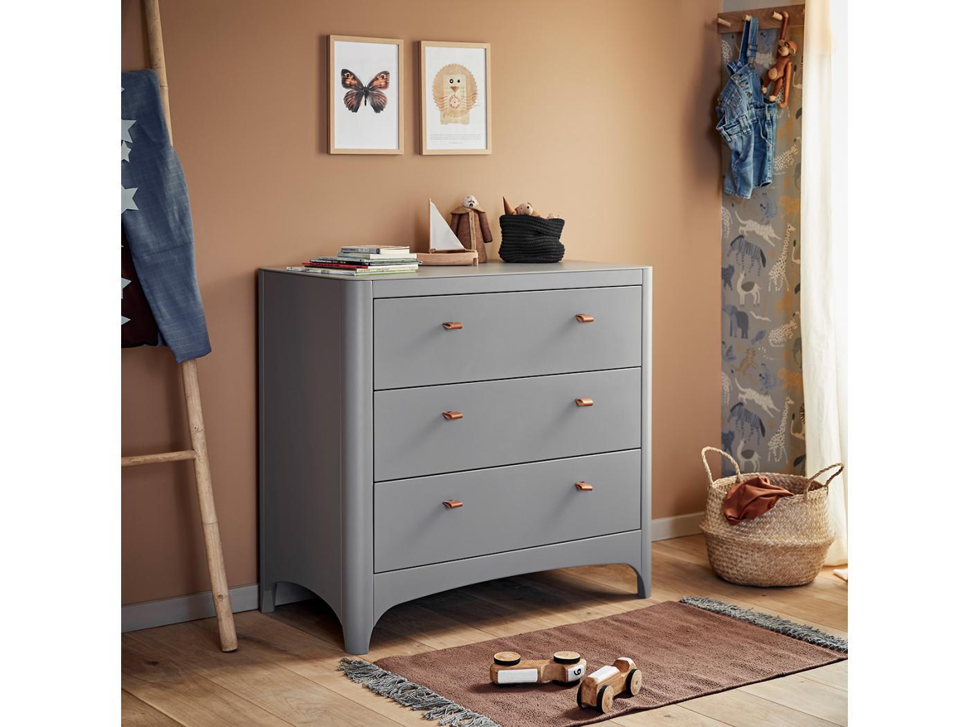 commode 4 tiroirs grise. Black Bedroom Furniture Sets. Home Design Ideas
