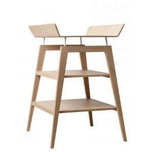 Leander - BU12 - Table à langer Linea  en chêne avec matelas et housse  Rose pâle (342252)