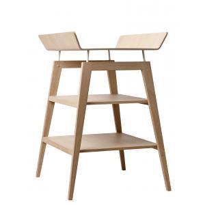 Leander - BU14 - Table à langer Linea  en chêne avec matelas et housse  Prune (342256)