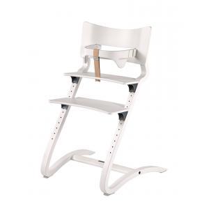 Leander - BU32 - Chaise haute evolutive et  Arceau de sécurité Blanc (342292)