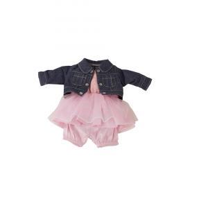 Gotz - 3402835 - Ensemble jean et robe tulle bébé 42-46cm, Taille M (342444)
