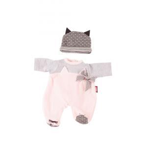 Gotz - 3402837 - Pyjama chat bébé 30-33cm, Taille S (342448)