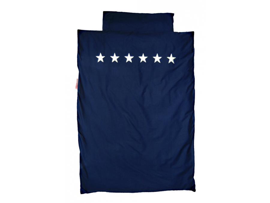 Taftan housse de couette stars silver dark blue 120 x 150 - Housse de couette 80 x 120 ...