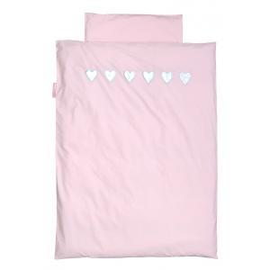 Taftan - DM-501 - Housse de couette hearts silver pink 120 x 150 (342768)