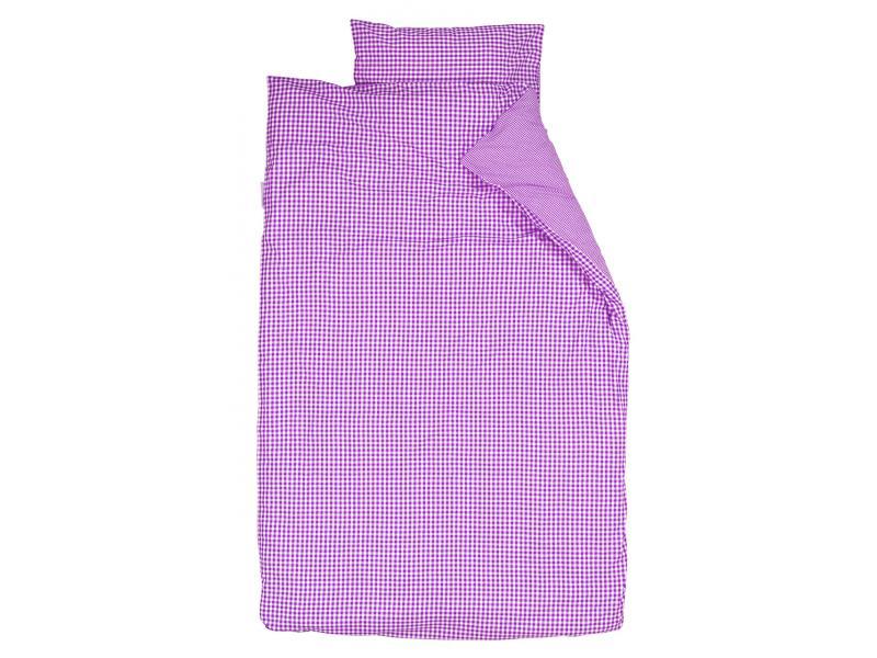 taftan housse de couette checks small big purple 120 x 150. Black Bedroom Furniture Sets. Home Design Ideas