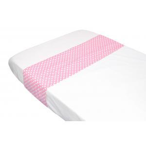 Taftan - LB-321 - Drap plats polkadots pink 100 x 80 (342930)