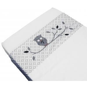 Taftan - LB-710 - Drap plats little owl grey 100 x 80 (342940)