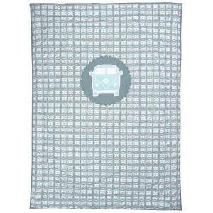 Taftan - SL-918 - Couverture de lit little van grey-blue 170 x 230 (343434)