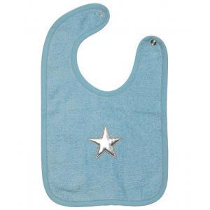 Taftan - BIB-142 - Bavoir en eponge stars silver light blue 23 x 38 (343692)