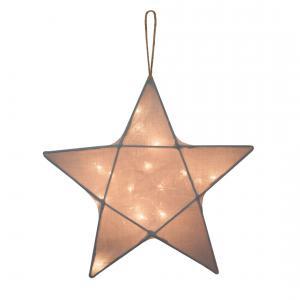 Numéro 74 - 67684 - Lampe etoile gris argent small (343924)