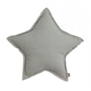Numéro 74 - 61507 - Coussin Etoile coton pastel Gris M (45 cm) (343944)