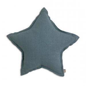 Numéro 74 - 61620 - Coussin Etoile coton pastel Bleu M (45 cm) (343946)