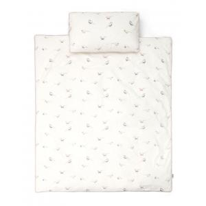 Mamas and Papas - 704290901 - Cot/Bed Duvet Cover & PC - Bird AOP Pink (345978)